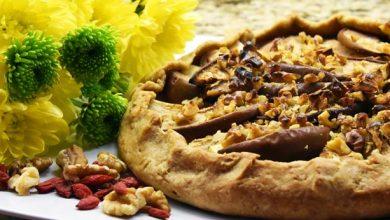 تصویر رسپی با آجیل: طرز تهیه کیک گردو، گلابی و سیب