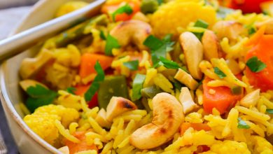 تصویر آشپزی با آجیل : پلو بادام هندی بخوریم!