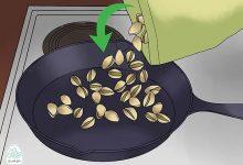 تصویر 2 روش آسان بو دادن پسته بصورت تصویری (با مایکروویو یا ماهیتابه) + طعم های نمکی، لیمویی و آبغوره
